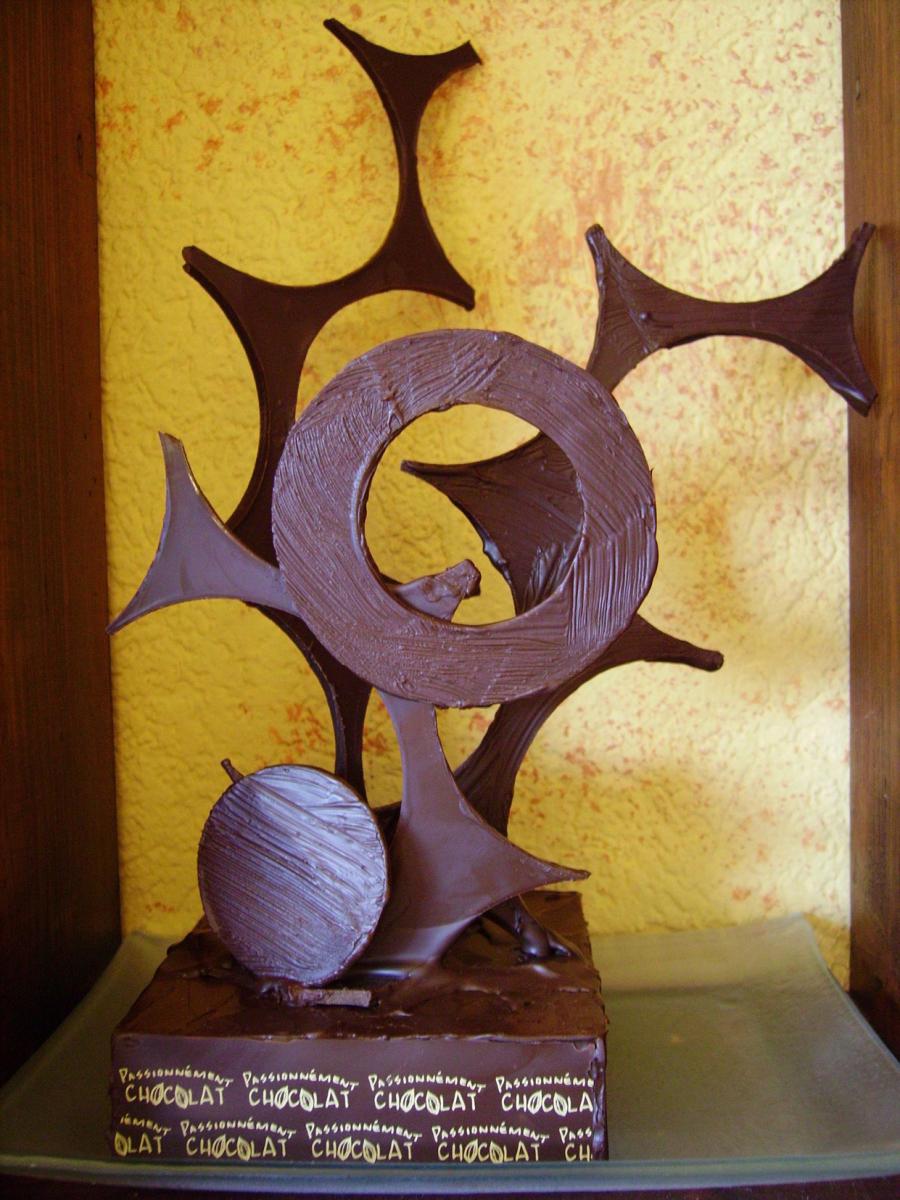 passionn ment chocolat la sculpture en chocolat. Black Bedroom Furniture Sets. Home Design Ideas